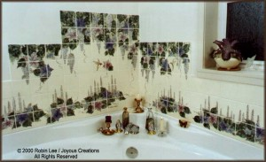 Art Tile TubSurround - Hummingbird TIle Design