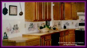 Kitchen backsplash tile - vegetable design