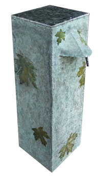 Biosand Water Filter- Decorated with Leaves on Green