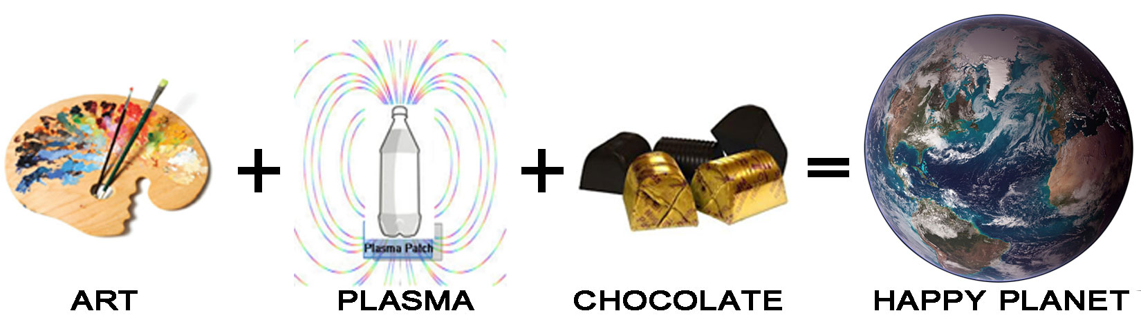 Art, Plasma and Chocolate make a happy world