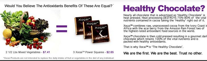 Healthy Chocolate or VEgetables?